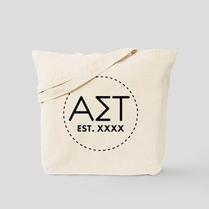 Alpha Sigma Tau Circle Personalized Tote Bag