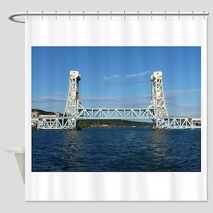 Portage Lake Lift Bridge Shower Curtain