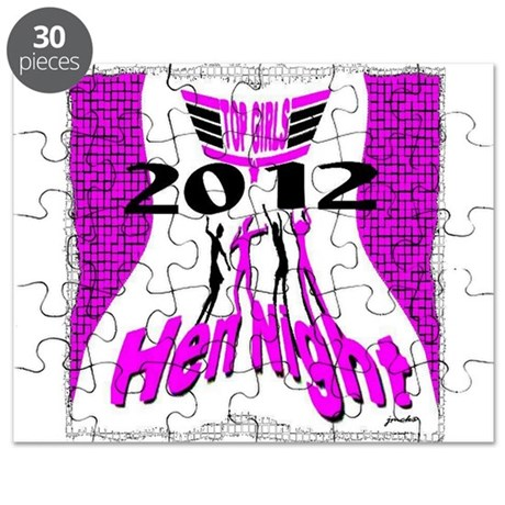 top girls hen night bachelorette party Puzzle