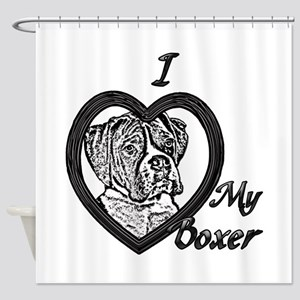 B@W Boxer 3 Shower Curtain