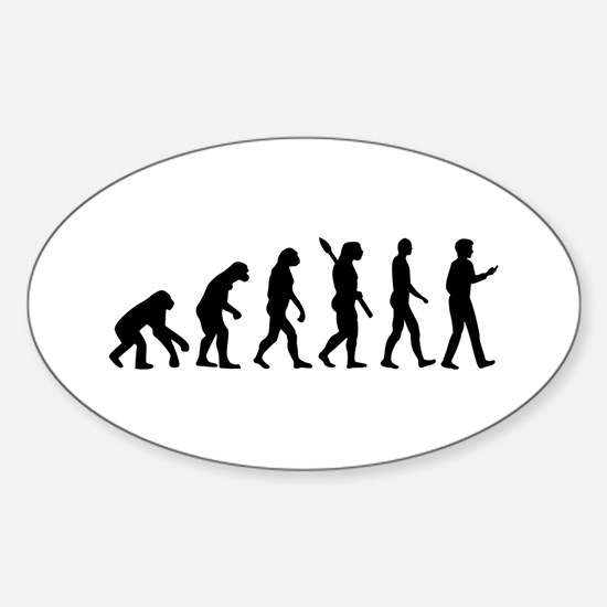 Evolution Cell Smartphone Sticker (Oval)
