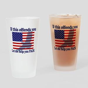 Flag Eagle Patriot Drinking Glass