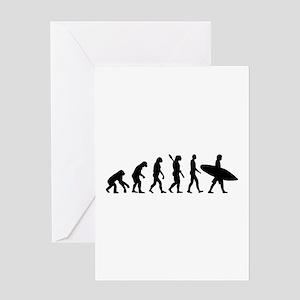 Evolution surfing Greeting Card