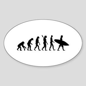 Evolution surfing Sticker (Oval)