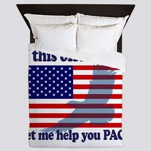 Flag Eagle Patriot Queen Duvet