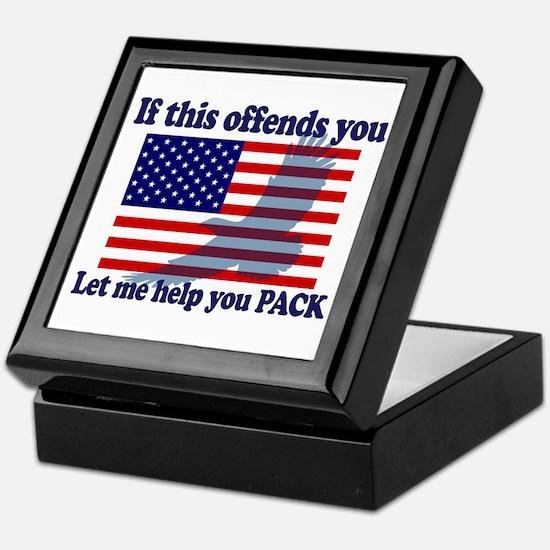 Flag Eagle Patriot Keepsake Box