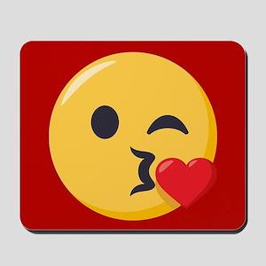Kissing Emoji Mousepad