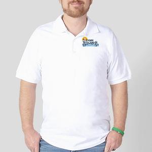Tybee Island GA - Pier Design. Golf Shirt
