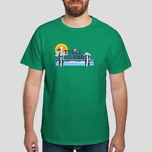 Tybee Island GA - Pier Design. Dark T-Shirt