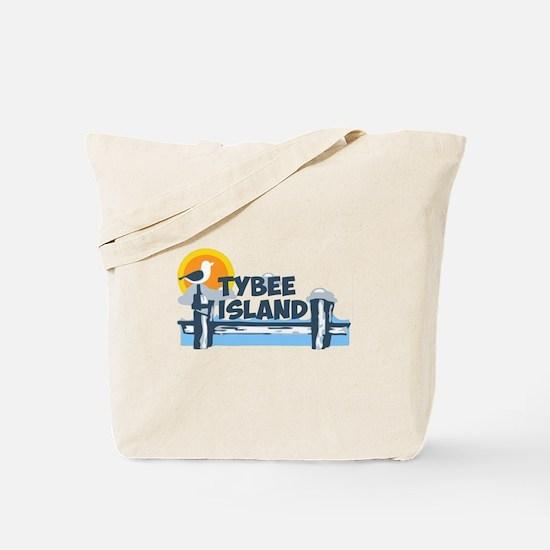 Tybee Island GA - Pier Design. Tote Bag