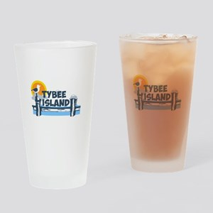 Tybee Island GA - Pier Design. Drinking Glass