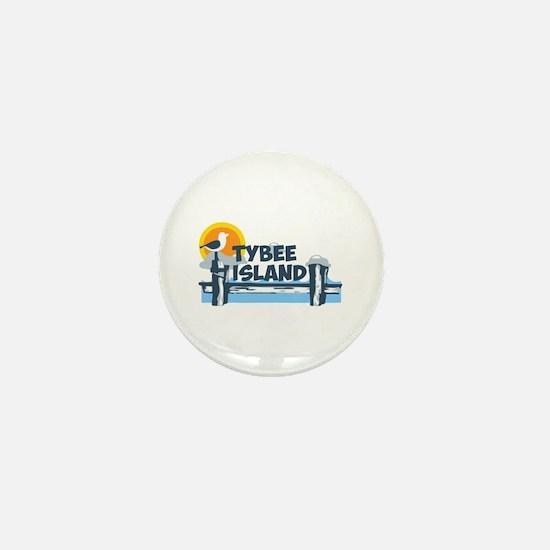 Tybee Island GA - Pier Design. Mini Button
