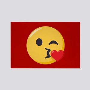 Kissing Emoji Rectangle Magnet