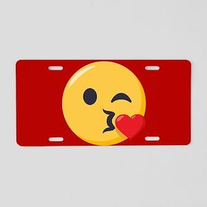 Kissing Emoji Aluminum License Plate
