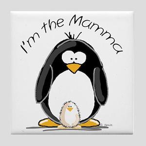 I am the Mamma Penguin Tile Coaster