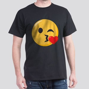 Kissing Emoji Dark T-Shirt