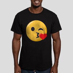 Kissing Emoji Men's Fitted T-Shirt (dark)