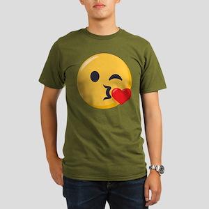 Kissing Emoji Organic Men's T-Shirt (dark)