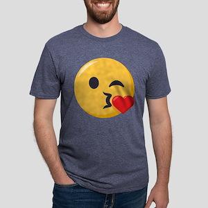 Kissing Emoji Mens Tri-blend T-Shirt