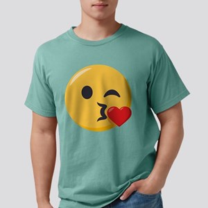 Kissing Emoji Mens Comfort Colors Shirt