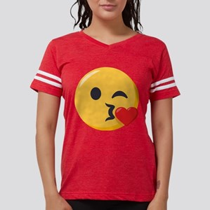 Kissing Emoji Womens Football Shirt