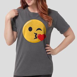 Kissing Emoji Womens Comfort Colors Shirt