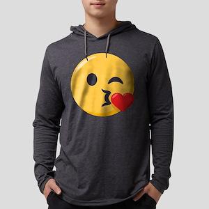 Kissing Emoji Mens Hooded Shirt