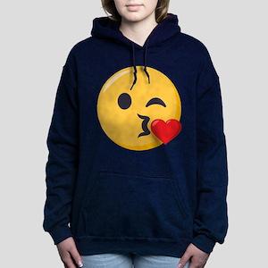 Kissing Emoji Women's Hooded Sweatshirt