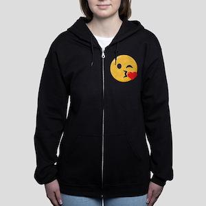 Kissing Emoji Women's Zip Hoodie