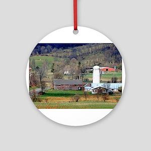 American Barns No.8 Ornament (Round)