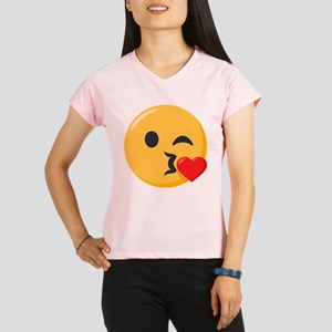 Kissing Emoji Performance Dry T-Shirt