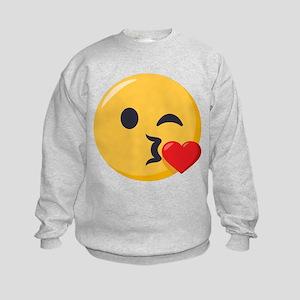 Kissing Emoji Kids Sweatshirt