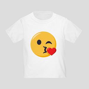 Kissing Emoji Toddler T-Shirt