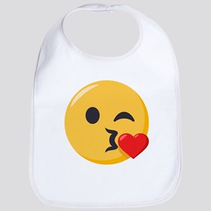 Kissing Emoji Cotton Baby Bib