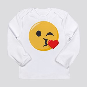 Kissing Emoji Long Sleeve Infant T-Shirt