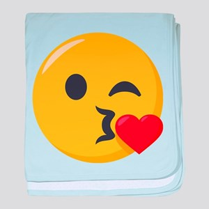 Kissing Emoji baby blanket
