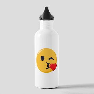 Kissing Emoji Stainless Water Bottle 1.0L