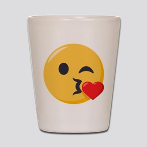 Kissing Emoji Shot Glass