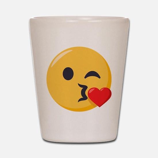 Kissing Emoji Shot Glass