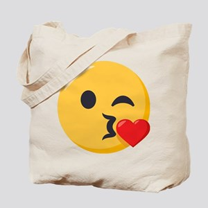 Kissing Emoji Tote Bag