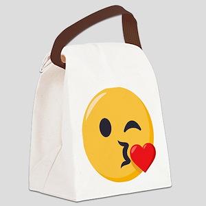 Kissing Emoji Canvas Lunch Bag