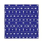 Blue Nautical fish pattern Queen Duvet
