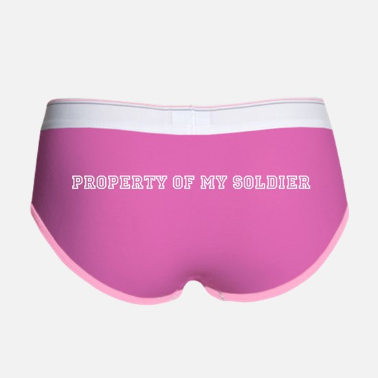 Cute Property of my soldier Women's Boy Brief