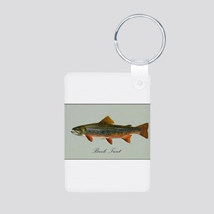 Brook Trout Aluminum Photo Keychain