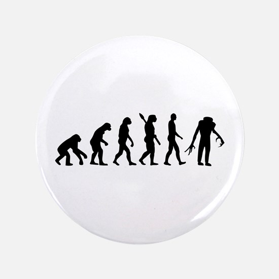 """Evolution scary Zombie 3.5"""" Button"""