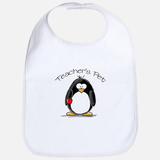 Teachers Pet Penguin Bib