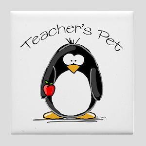 Teachers Pet Penguin Tile Coaster