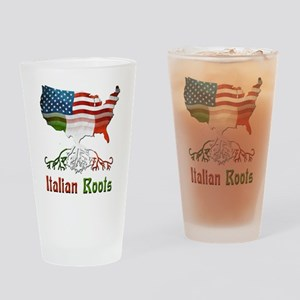 American Italian Roots Drinking Glass