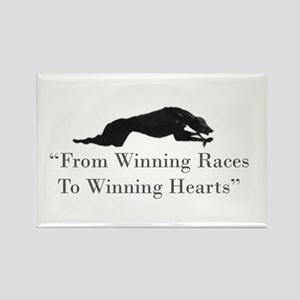 Winning Hearts Rectangle Magnet