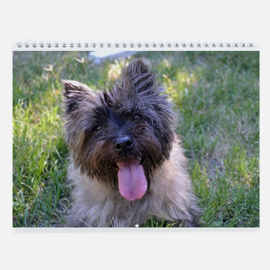 Summer Cairn Terrier Wall Calendar
